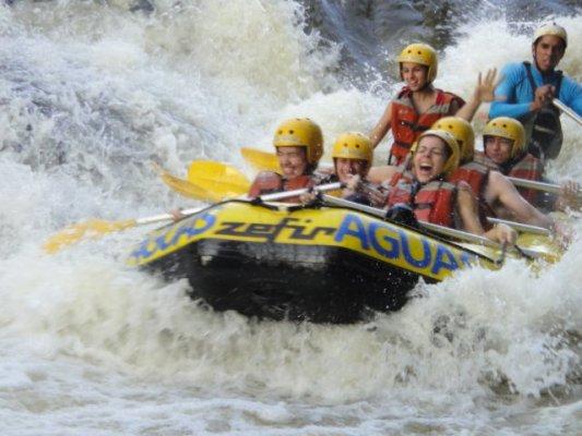 relato de um passeio de rafting em brotas, no rio jacaré pepira