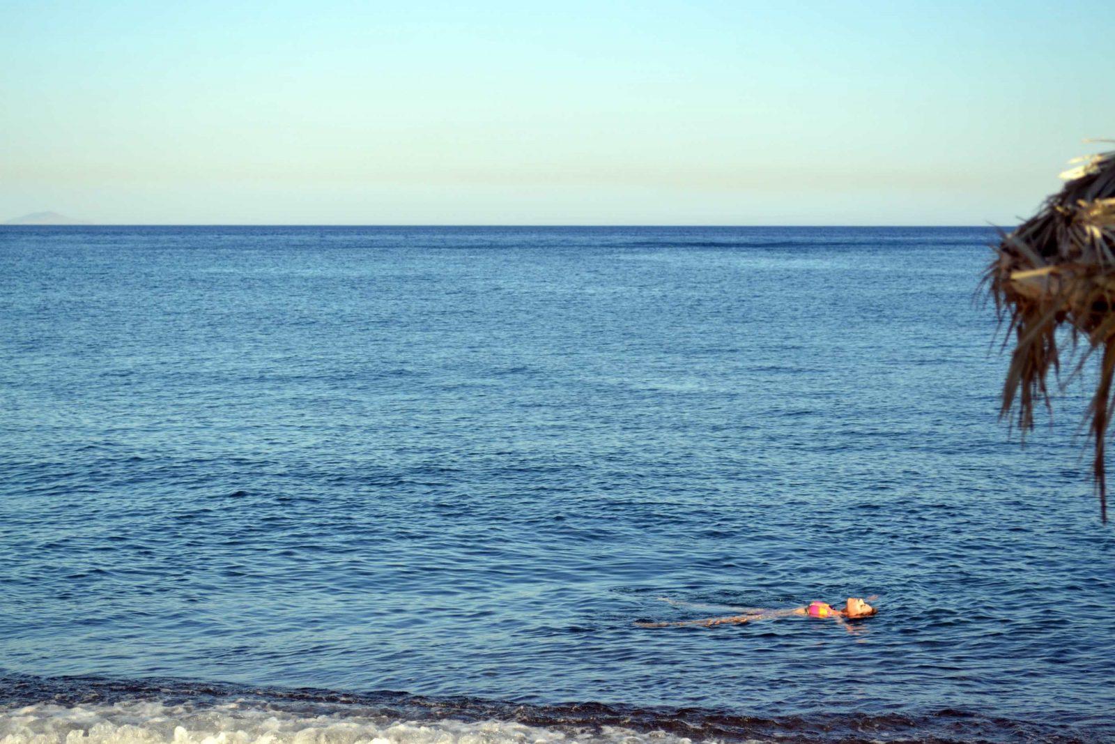Perissa Beach em Santorini