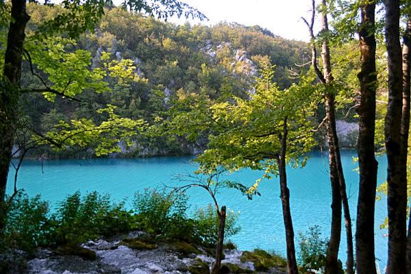paisagem incrivel lagos plitvice croacia