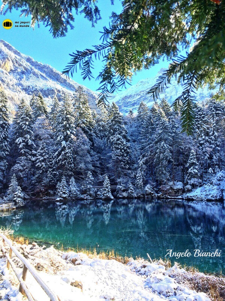 lago azul suiça blausee