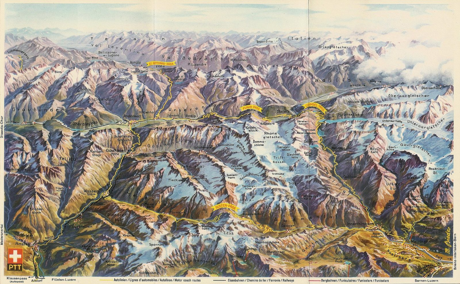 mapa panorama alpes suiços