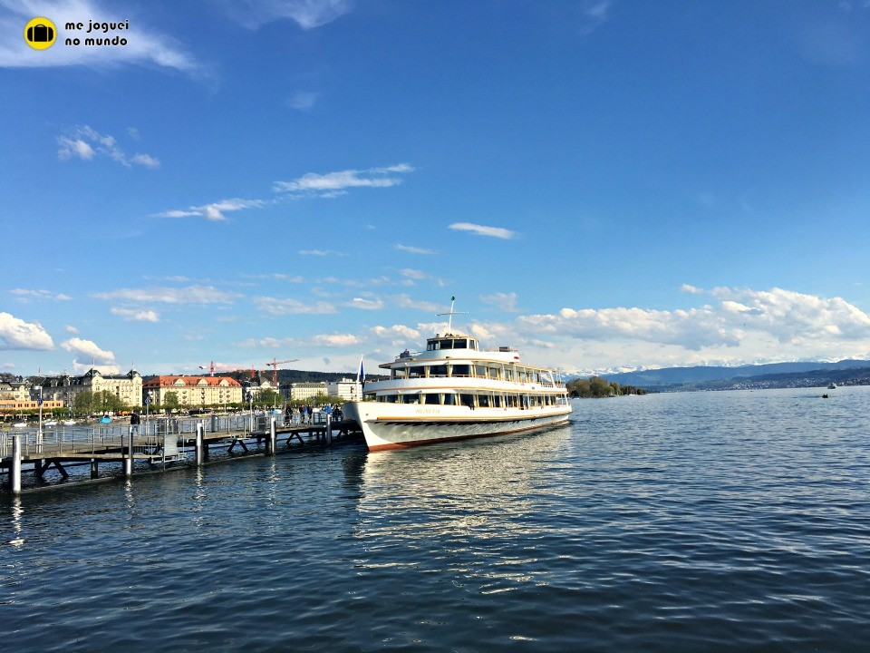 passeio de barco lago de zurique