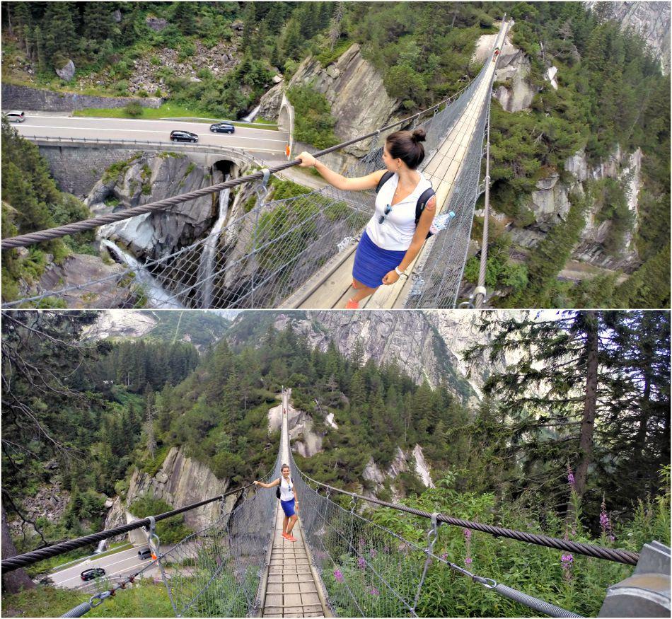 Ponte suspensa suiça handeck