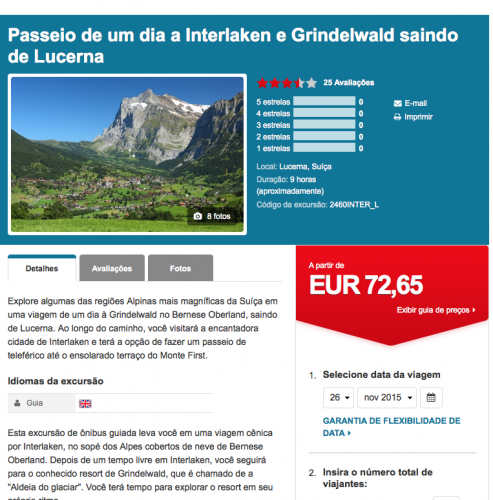 excursao interlaken e grindelwald