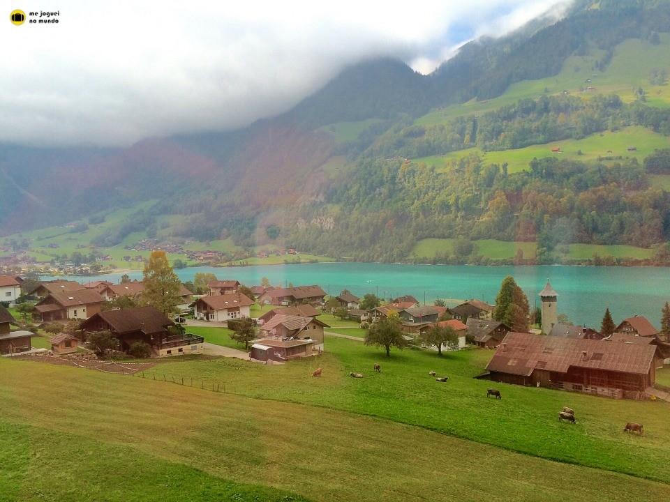 paisagens vistas do trem suiça