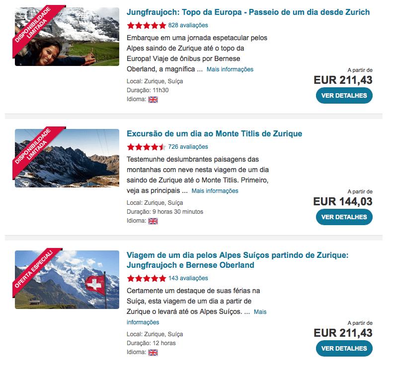 tours e atracoes na suiça