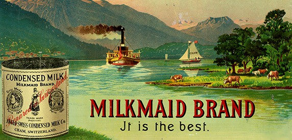 leite condensado foi inventado na suíça