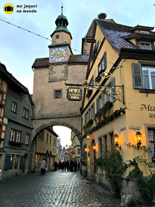cidade medieval rothenburg ob der tauber