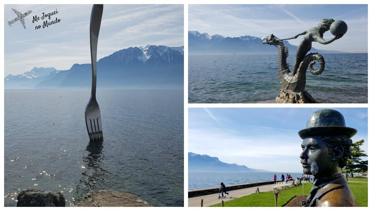 esculturas lago leman vevey