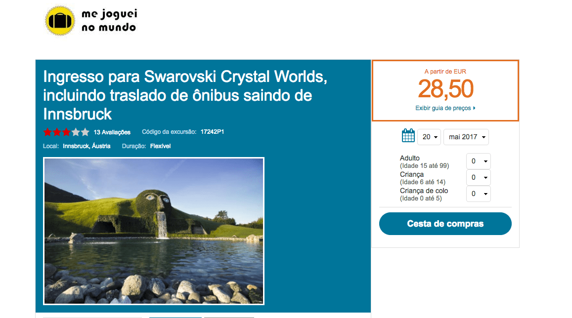 excursao swarovski world innsbruck