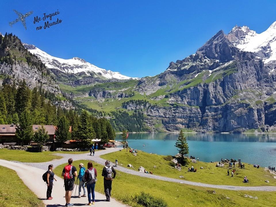 lago montanha oeschinensee