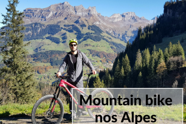 mountainbike nos alpes