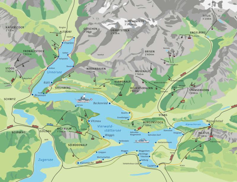 mapa lago lucerne