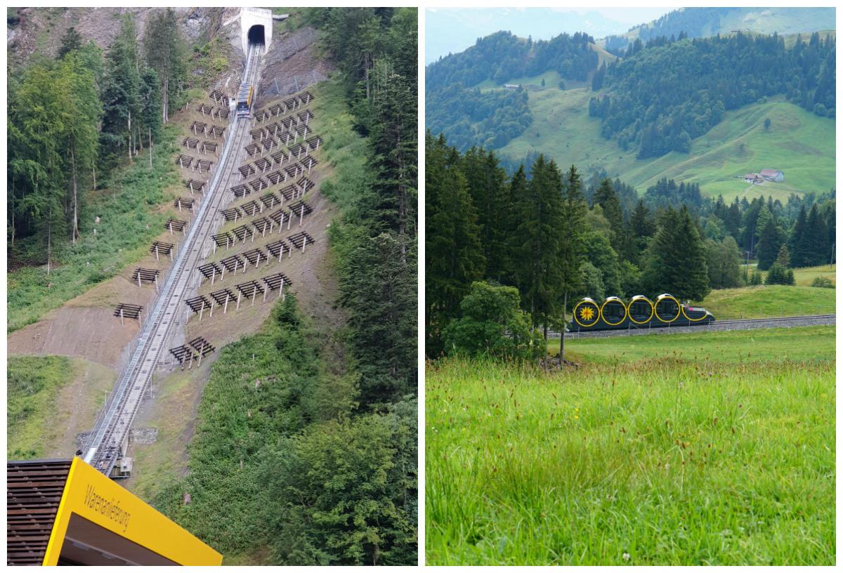 funicular mais inclinado suiça