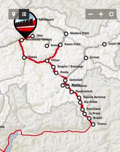 rota panoramica Bernina express