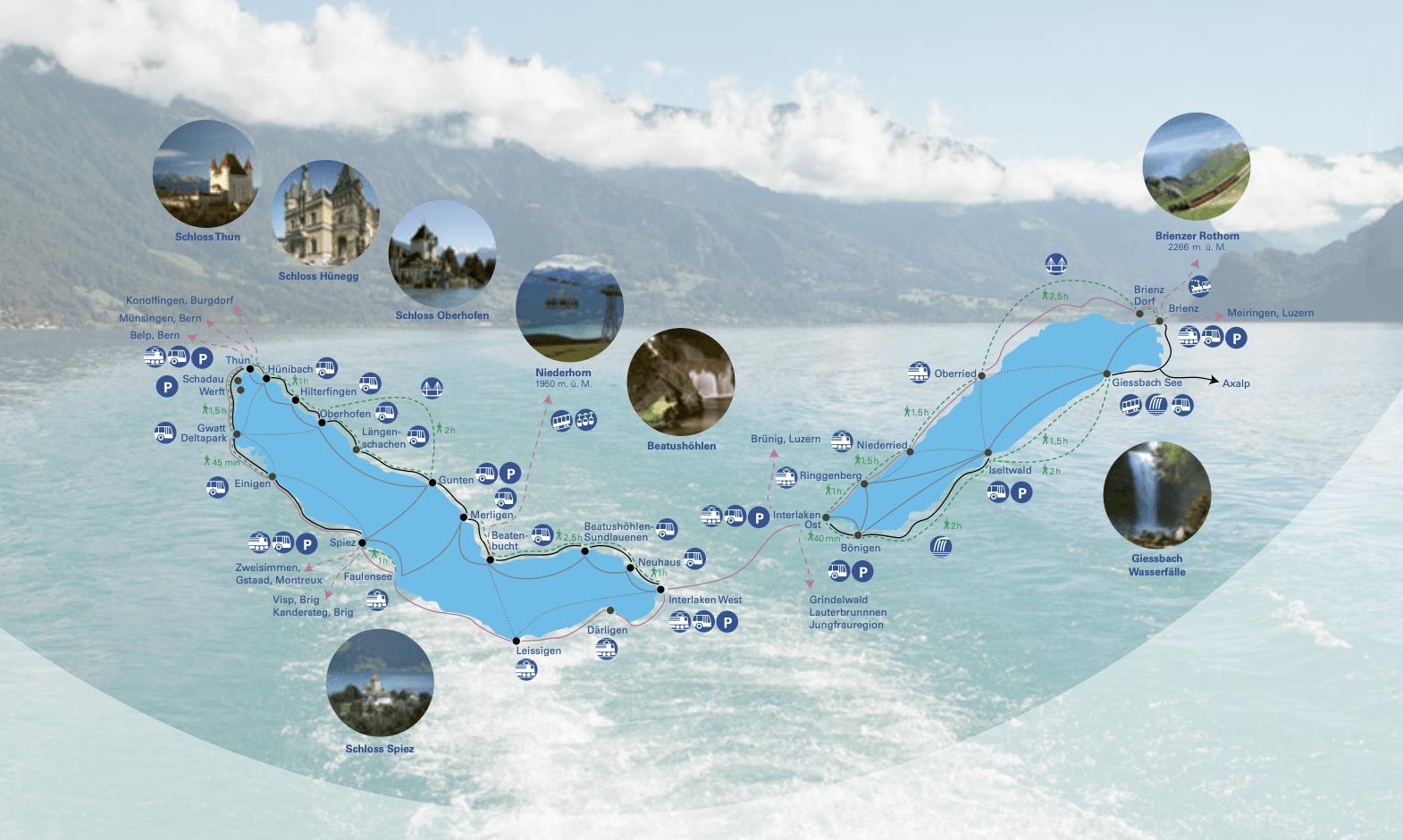 passeios de barco em interlaken