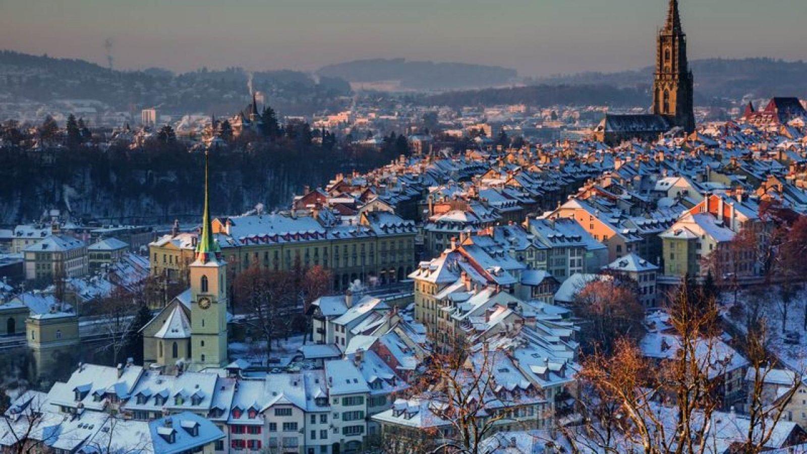 cidades para visitar no inverno na suica