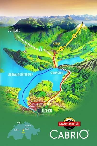 como chegar ao bondinho conversivel suiça