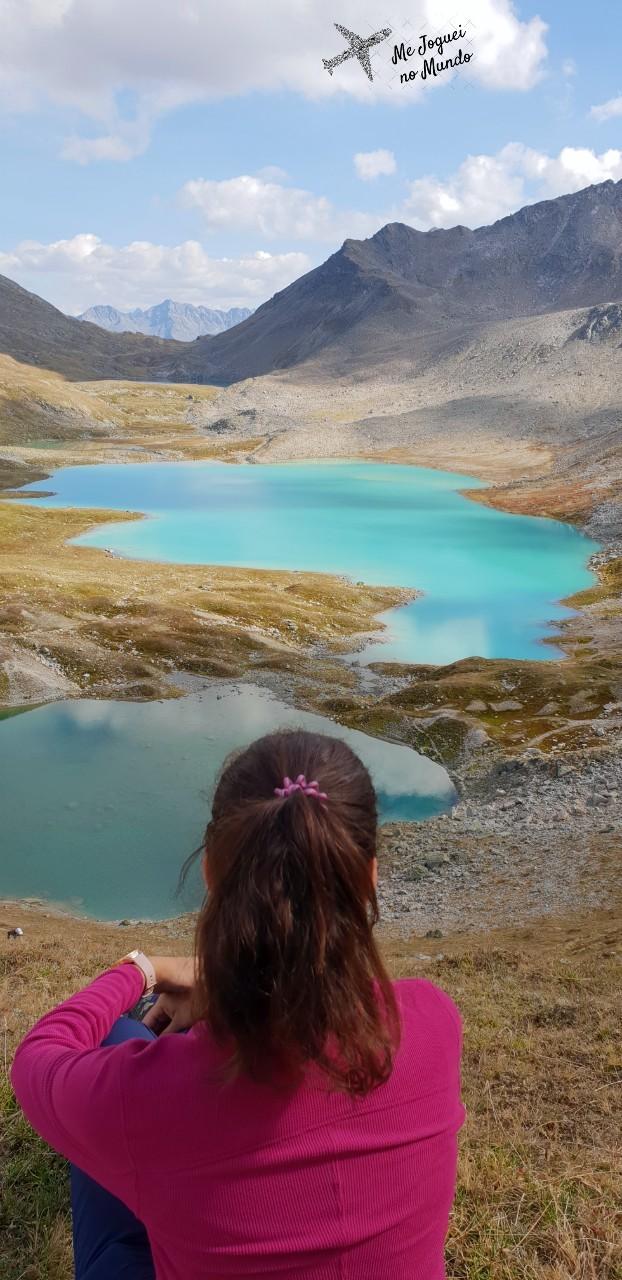 trilha montanha lagos suica