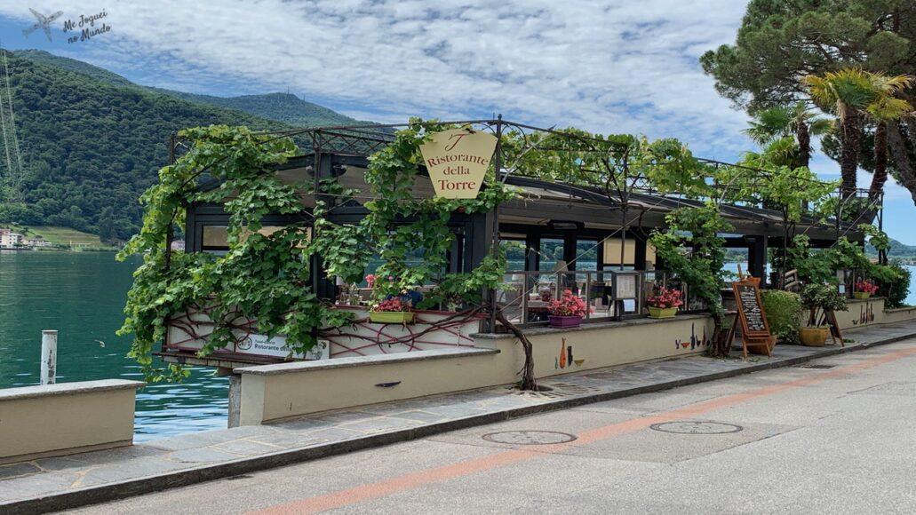 restaurante em morcote lago lugano