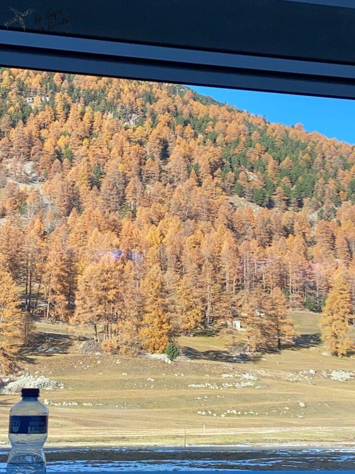 outono suíça janela do trem