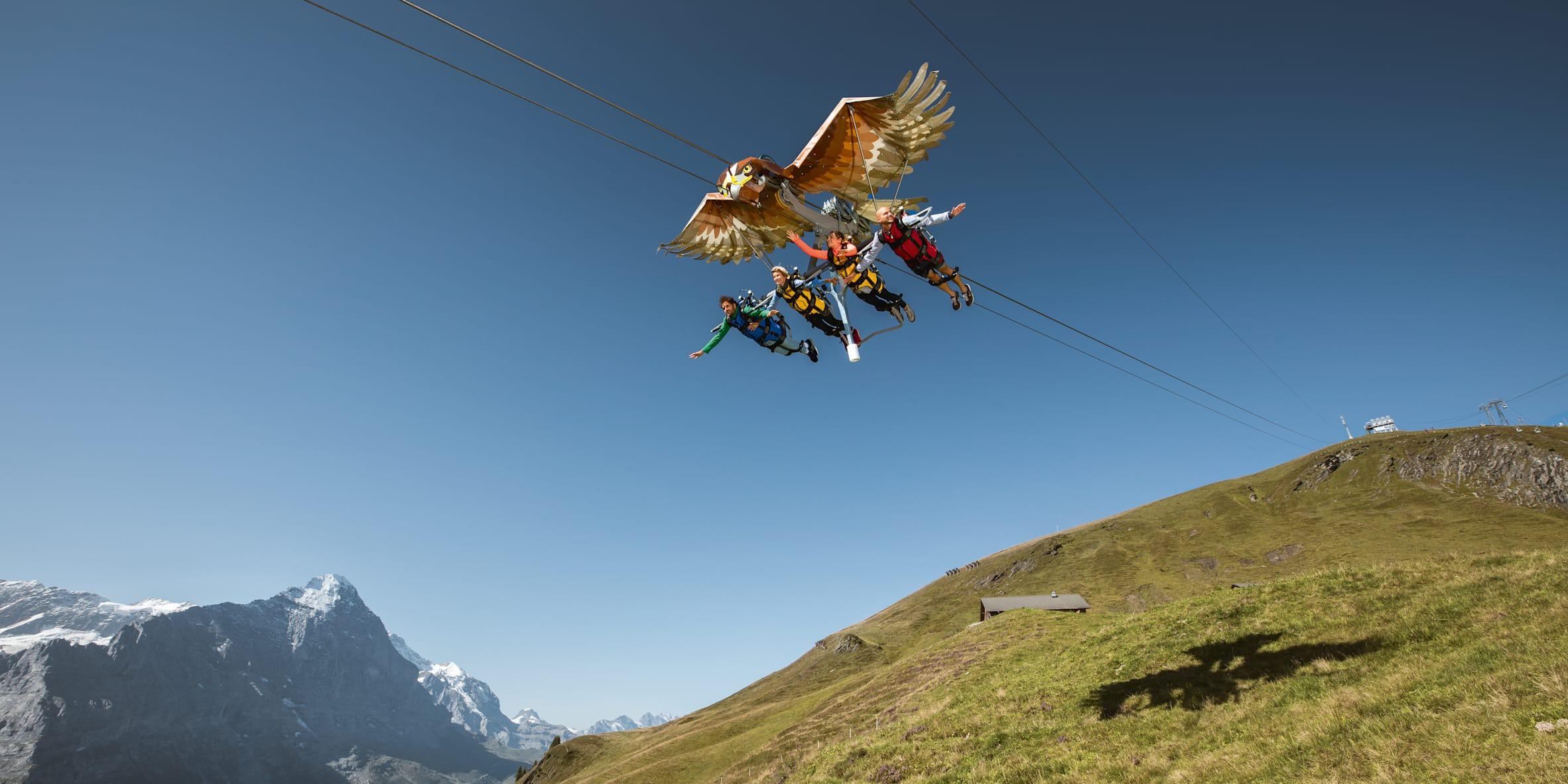 atrações Montanha First em Grindelwald