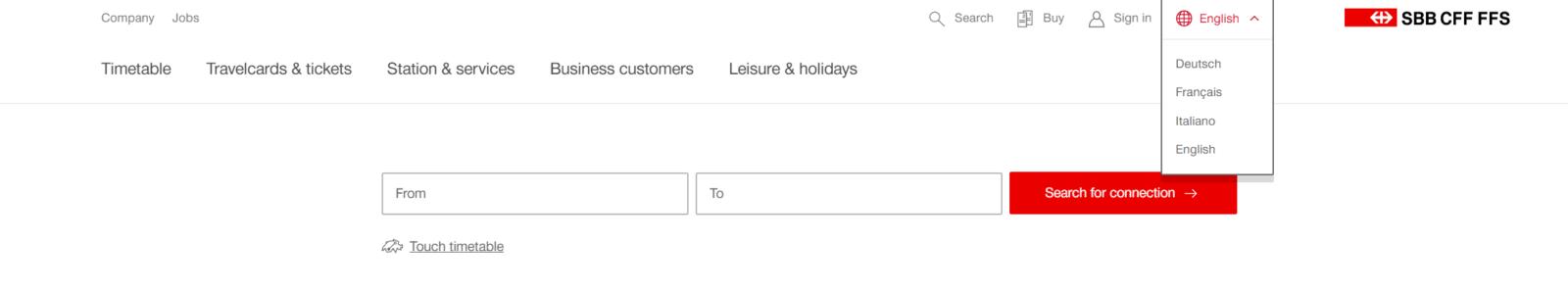 como usar o site de transporte público da Suíça
