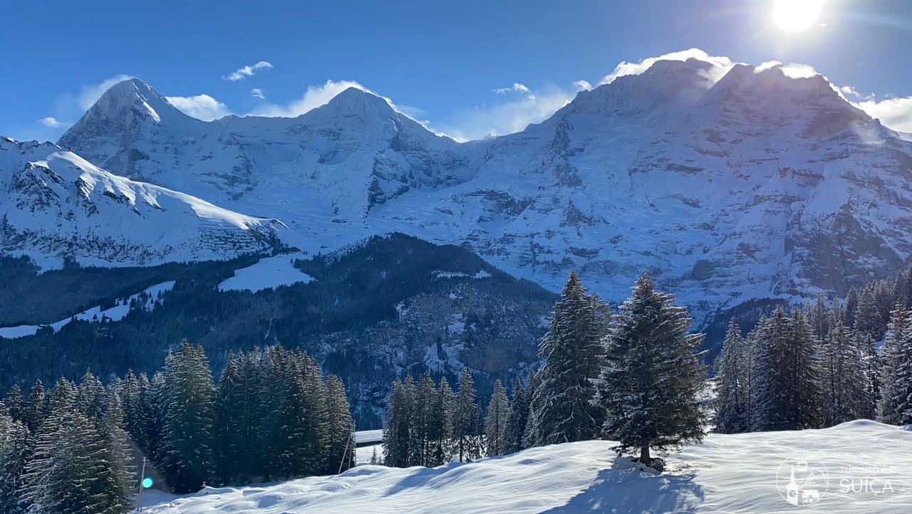 paisagens suiça no inverno