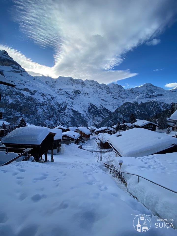 vilas suíças no inverno Mürren