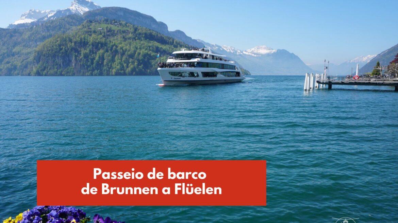 barco de brunnen a fluelen suiça