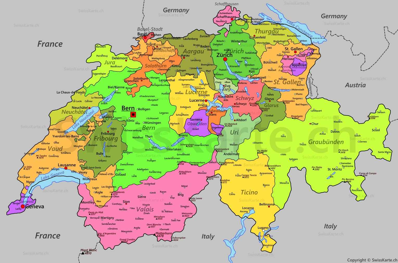 mapa suiça cantões