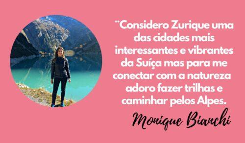 Monique autora do Turismo na Suíça
